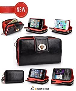 [Geek-IP5] BLACK | Universal Women's Wallet with Stand & Magnetic Shell for the Apple iPhone 5 / 5s Phone Case...
