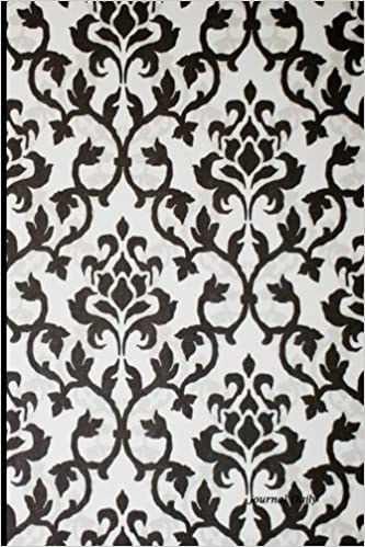 amazon black and white unique damask design journal journal