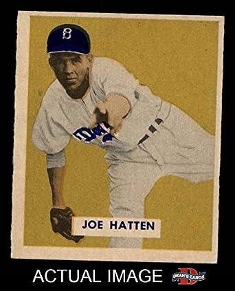 Amazoncom 1949 Bowman 116 Joe Hatten Brooklyn Dodgers