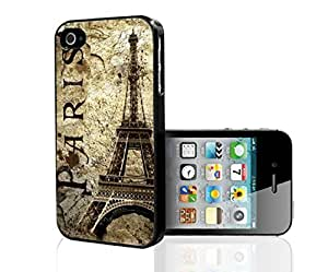 Paris and Eiffel Tower on Grunge Background Hard Snap on Phone Case (iPhone 4/4s)