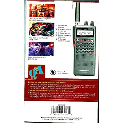RADIO SHACK VHF/UHF/Air/800MHz Race Scanner: Electronics