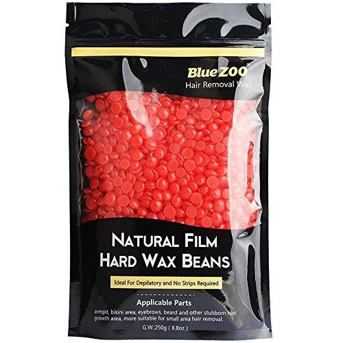 FTXJ No Strip Depilatory Hot Film Hard Wax Pellet Waxing Body Hair Removal Bean (Red)