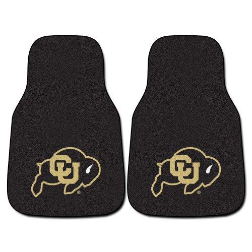(FANMATS NCAA University of Colorado Buffaloes Nylon Face Carpet Car Mat)