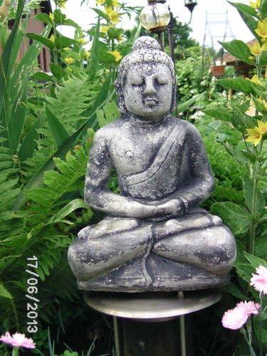 El Buda en el jardín – Buda rama aprox. 5, 600 Talla difícil en piedra fundido