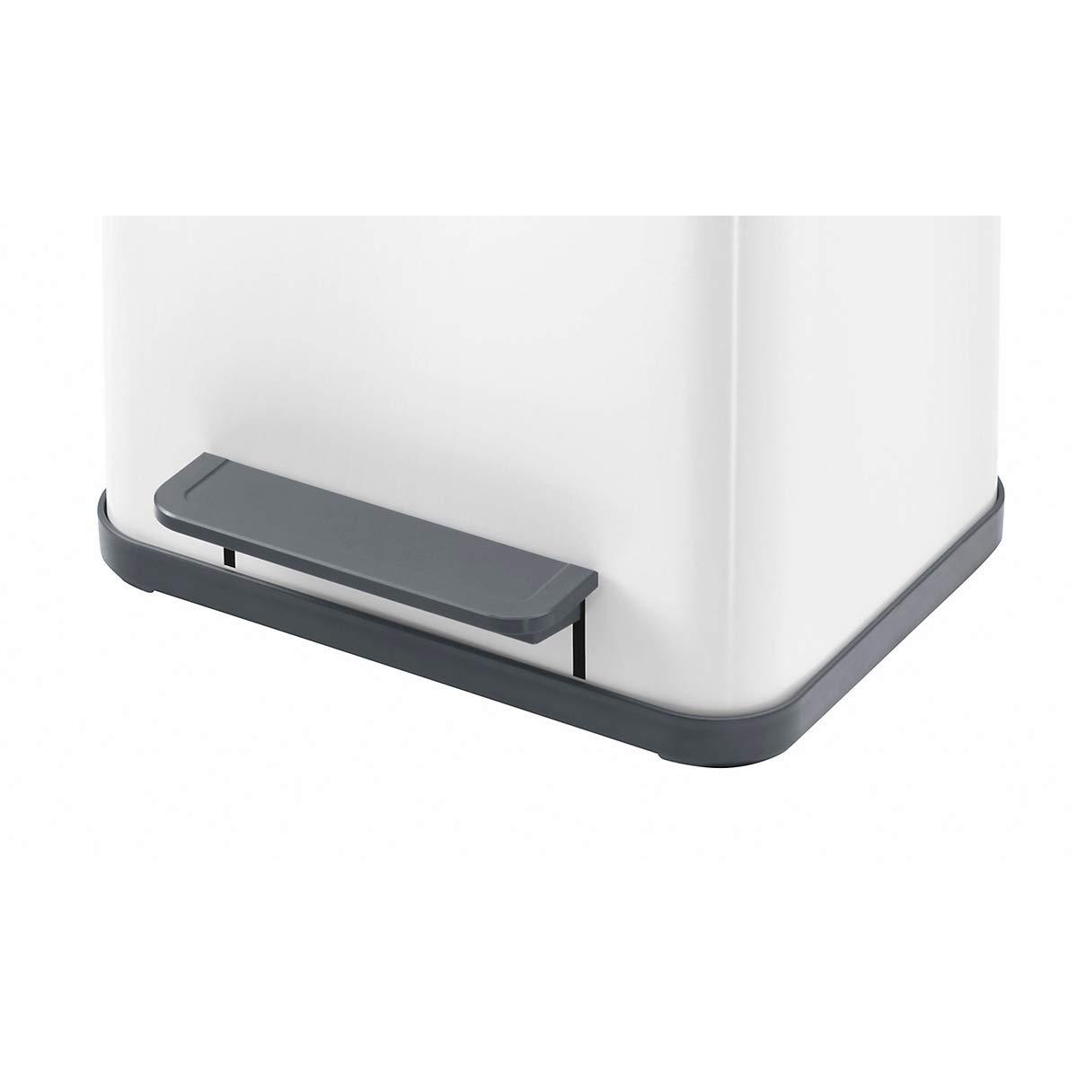 0619 130 Soft Close Hailo ProfiLine Solid certifi/é M Poubelle en t/ôle dacier//plastique, 17/L, grand angle douverture, couvercle Amortissement