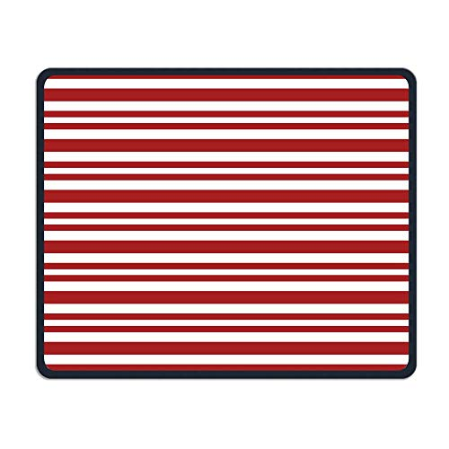 - Mouse Pads Candy Cane Stripes Mouse Mat Stitched Edge Non-Slip Rubber Base Mousepad 10