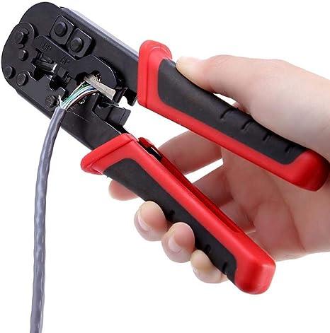 Pince /à d/énuder Ergonomique Pince coupante de c/âble r/éseau Multifonctions Portable Outil de sertissage Mugast Pince /à sertir Outil de sertissage pour connecteurs RJ45 // RJ12 // RJ11 // 8P // 6P // 4P