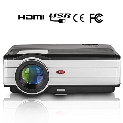 EUG 3500 Lumen LED Video Projector Outdoor Movies Support...