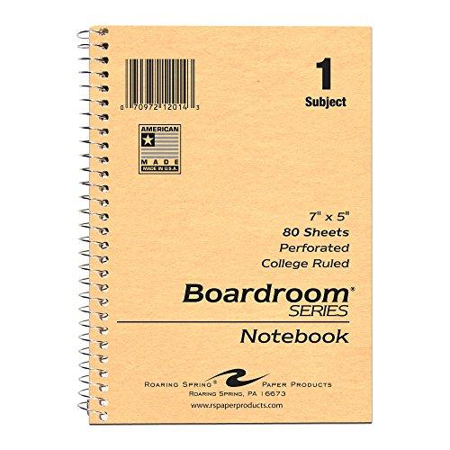 (Roaring Spring Wirebound Notebook, One Subject, 7