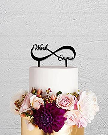 Amazon Wedding Cake Topper Infinity Cake Topper With Two Names