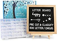 amazon best sellers best changeable letter boardsfelt letter board with letters 600 pre cut letters classified to a~z 0