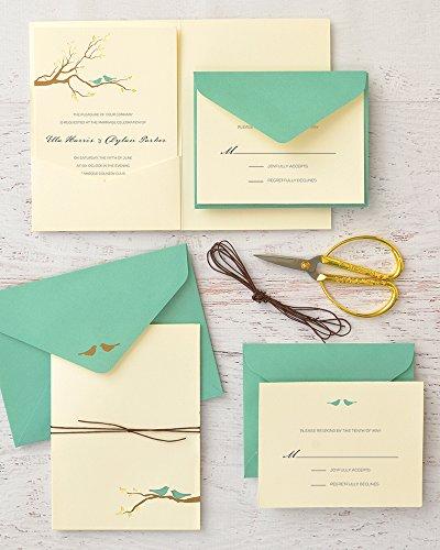 Pocket Folder Wedding Invitation Kits: BRIDES® Love Birds Pocket Wedding Invitation Kit, Set Of