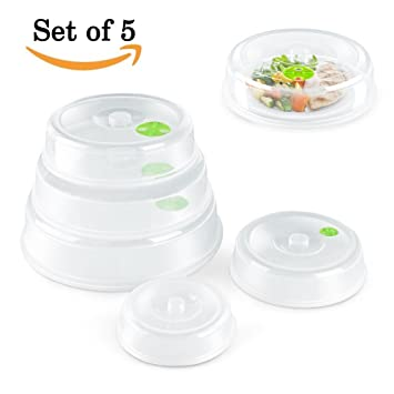 Set of 5 Microwave Plate Cover/ Dish Covers - Mixed Sizes -Dishwasher Safe  sc 1 st  Amazon.com & Amazon.com: Set of 5 Microwave Plate Cover/ Dish Covers - Mixed ...