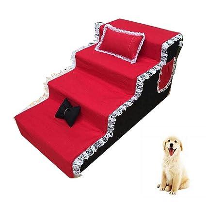 DJLOOKK Escaleras De Mascotas Rampas para Camas Altas, como Escalera De Perro para Camas Altas