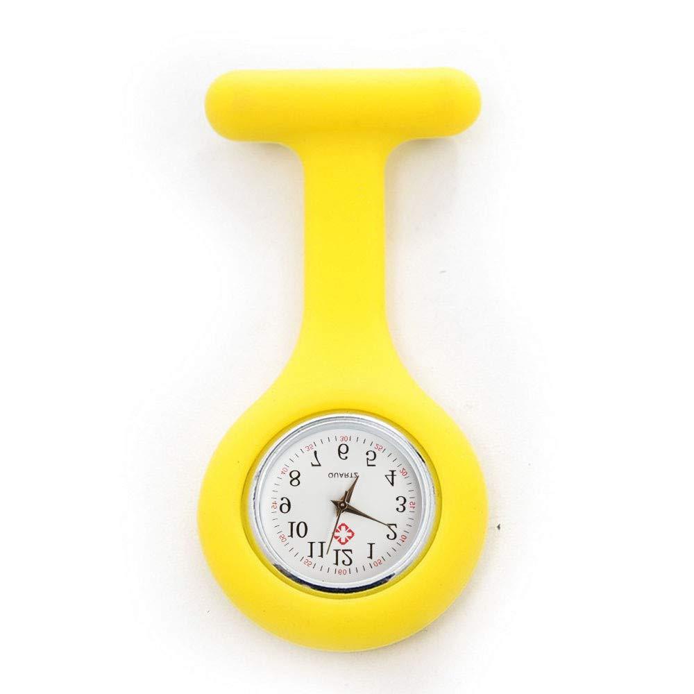 ... de la Correa del Reloj de la túnica del Reloj de la Enfermera del silicón con la batería Libre Doctor médico(Amarillo): Amazon.es: Ropa y accesorios