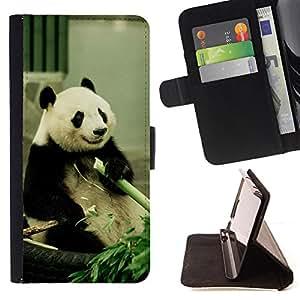 - Happy Panda Bamboo Animal China - Estilo PU billetera de cuero del soporte del tir???¡¯????n [solapa de cierre] Cubierta- For Samsung Galaxy S4 Mini i9190 £¨ Devil Case £©