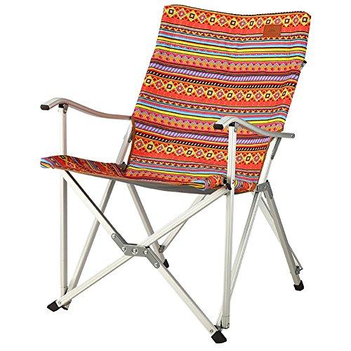 Camping Chairs WSSF- Luxury Aluminium Alloy Folding Sun Lounger Chair Self-drive Outdoor Leisure Beach Picnics Fishing Chair - Load Bearing 90kg (Color : #2) (Sun Aluminium Outdoor Lounger Furniture)