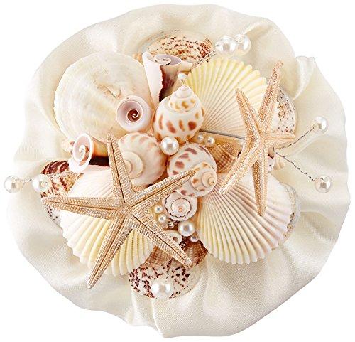 Lillian Rose Coastal Theme Wedding Seashell Flower Bouquet (Bouquets Trendy)