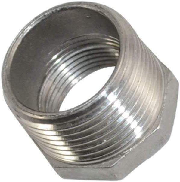 1-1//4 Male x 1 Female Thread Reducer Bushing Pipe Fitting Stainless steel SS 304 NPT Adapter