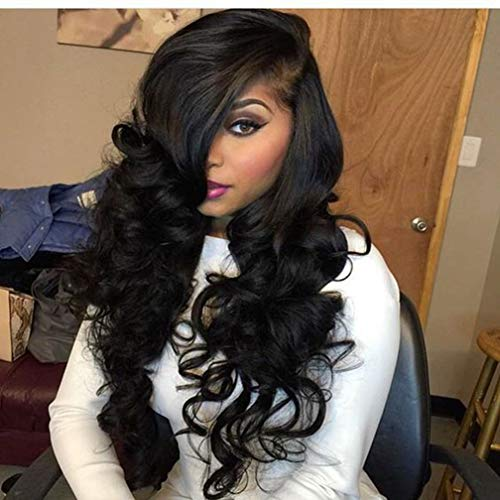 Persephone Loose Wave 360 Lace Frontal Wig Pre Plucked Brazilian Remy Human Hair Wigs for Black Women Glueless Virgin Human 360 Lace Wigs 150% Density 16 Inch Natural Color -