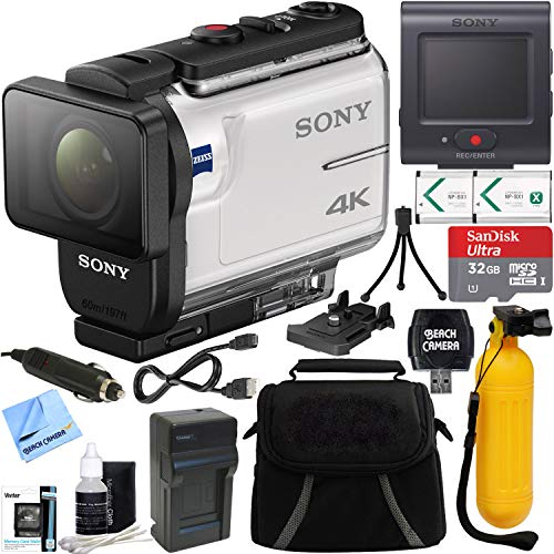 - Sony FDR-X3000R 4K Action Camera with Live View Remote + 32GB Memory Card & Accessory Bundle