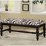 Coaster Home Furnishings 501005 Transitional Bench, Black/Multi-Color Review