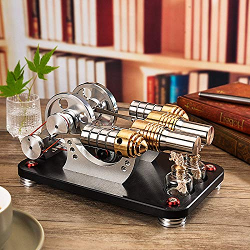 Sunnytech Hot Air Stirling Engine Motor Generator Education Toy Kits Electricity M16-22-D by Sunnytech (Image #1)