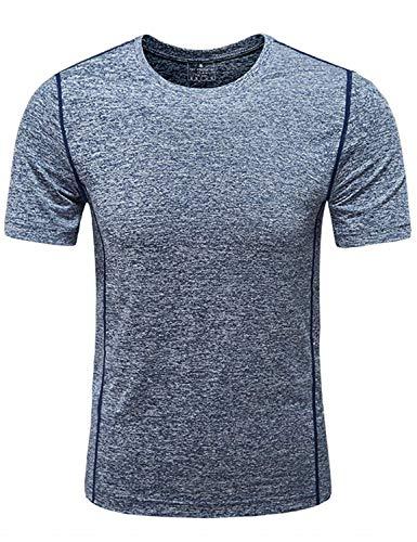 GEEK LIGHTING Men's Short Sleeve Crewneck T-Shirt, Soft Breathable Mesh Tee (Dark Grey, ()