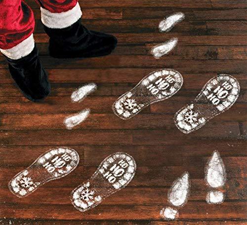 (jollylife 128PCS Christmas Decorations Footprints Party Decals Clings Floor Stickers - Xmas Santa)