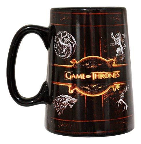 Ebros HBO Series Game Of Thrones House Of Targaryen Stark Baratheon And Lannister Sigil Large Ceramic Mug 5.5