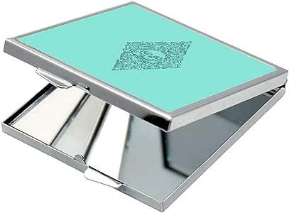 مرآة جيب، بتصميم - عظام و جمجمة ، شكل مربع