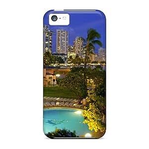 FJixADZ5793EDOPT Mialisabblake Waikiki At Night Durable Iphone 5c Tpu Flexible Soft Case