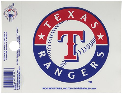 Rico MLB Texas Rangers Products MLB Small Static Cling Texas Rangers, ()