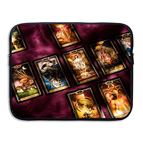 Price comparison product image Fashion Vintage Secret Astrology Tarot Printed Computer Storage Bag Portable Waterproof Neoprene Laptop Sleeve Bag Zipper Pocket Cover 15 Inch For MacBook Pro,  MacBook Air,  Notebook
