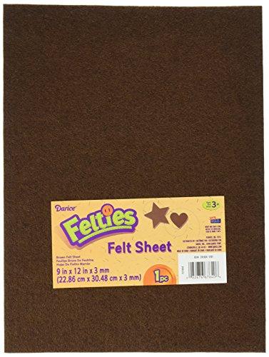 Darice FLT-0042 Felties Felt Sheet, 9 by 12