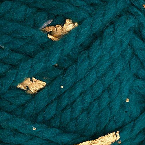 Lion Brand Yarn Gold Leaf Teal Gold, Teal - Yarn Wool Teal