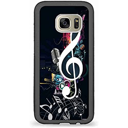 Custom Phone Cases Design for Samsung Galaxy S7 - Music notes back phone cases Sales