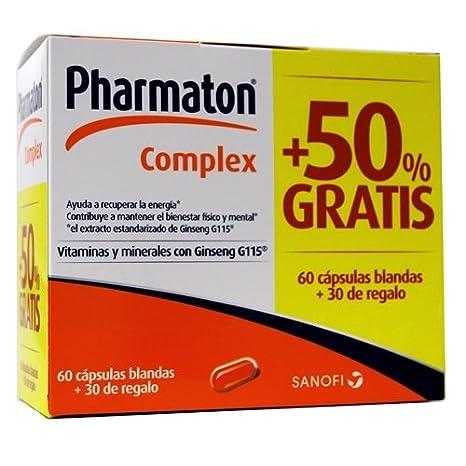 Pharmaton complex, 60capsulas + 30 de REGALO: Amazon.es: Salud y cuidado personal