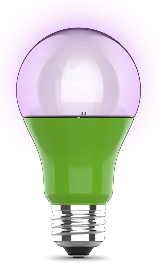Feit Electric A19/GROW/LEDG2/BX 60W Equivalent 9W Indoor Greenhouse Garden Outdoor Full Non-Dimmable A19 Plant Grow Light Bulb, 4.5