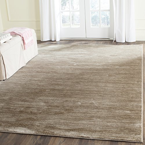 Brown Contemporary Polypropylene Rug (Safavieh Vision Collection VSN606C Light Brown Area Rug (4' x 6'))