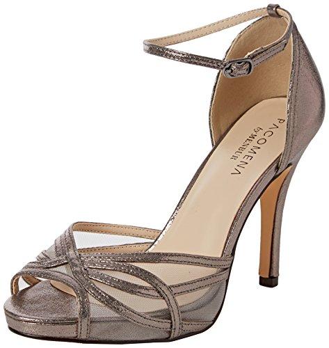 Paco Mena Alnus - Sandalias de tobillo Mujer Gris - Grau (Silbergrau)