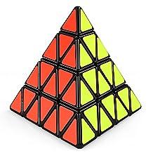 Coogam Shengshou 4x4 Pyraminx Speed Cube Black Pyramid Puzzle Toy