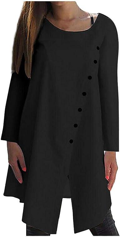 VJGOAL Blusa para Mujer Casual Color sólido Manga Larga O ...