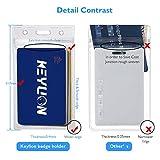 KEYLION 10 Heavy Duty ID Card Badge Holder Clear