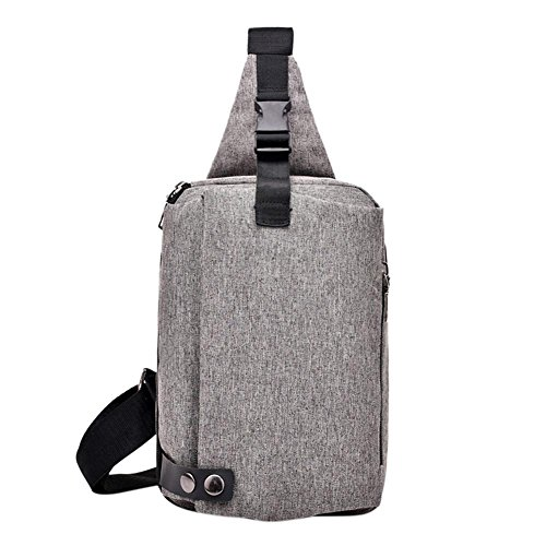 Everpert Handbags Grey1 Casual Pack Men Simple Shoulder For Teenage Crossbody Canvas Chest RRfF4