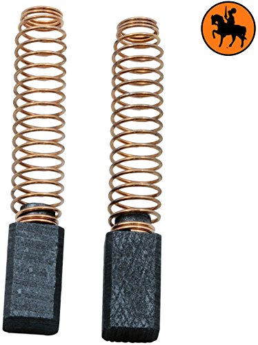 2.4x2.4x4.3 6,3x6,3x11mm Escobillas de Carb/ón para BLACK /& DECKER KR600RE