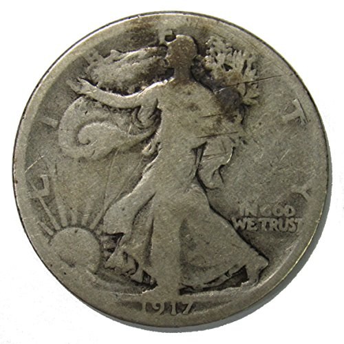 1917 D Reverse Walking Liberty Half Dollar 50c ()