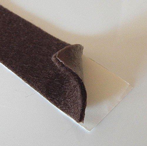 [해외]접착제 뒷면 브라운 펠트 테이프 - 50피트 긴 롤 0.6cm 두께 및 2.5cm 너비 / Adhesive Backed Brown Felt Tape - 50 Ft Long Roll, 116 Thick and 1 Wide