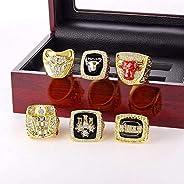 Chicago Bulls NBA Championship Ring Set Basketball Replica Championship Ring Box for Men MVP Jordon Size 11
