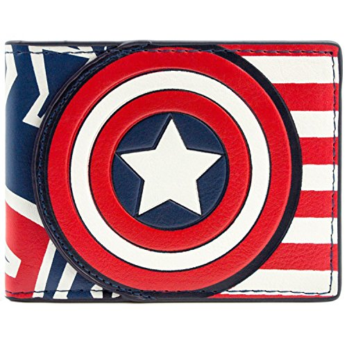 Marvel Captain America Flagge Stil Rot Portemonnaie Geldbörse